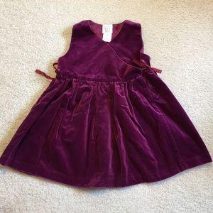 EUC baby Gap velvet dress
